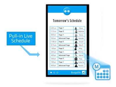 Digital Signage Class Schedules